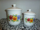 CORELLE  By Jay  SUMMER BLUSH Covered Canister Set Euc