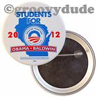 2012 Students For Barack Obama for President Tammy Baldwin WI Pin Pinback Button