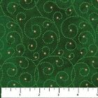 Prancer Green Swirls Starr Night Christmas Stonehenge Quilt Fabric by the 1 2 yd