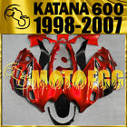 Motoegg ABS Fairing Fit KATANA GSX600F 750F 1998-2007 98-07 Bodywork Red SK7M21