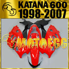 Motoegg ABS Fairing Fit KATANA GSX600F 750F 1998-2007 98-07 Red Black SK6M31