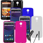 For ZTE N817 Crystal Gel Skin TPU Flexible Cover Case CAR CHARGER STYLUS PEN