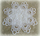 Doily Lace 12 Set of TWO DECADENT WHITE Craft Coaster Teacup