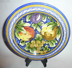 Vintage Wall Hanging Pottery Hand Made in Italy Fruit Motif Plate/Bowl