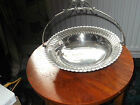 LARGE PINRO SILVER PLATE FOOTED FRUIT / BREAD / CAKE BASKET RAISED SCROLLS  EDGE