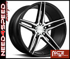 19 Niche Turin M169 85 95 Black Brush Concave Wheels for Nissan Altima Coupe