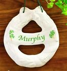 Belleek China Personalized Family Name Wall Plaque. Made in Ireland to Order