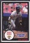 1990  BARRY BONDS - Kenner Starting Lineup Card - PITTSBURGH PIRATES  (BLUE)
