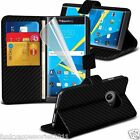 Leather Wallet Quality Executive Book Stand Phone Case Cover✔Blackberry