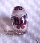PINK BUTTERFLY KISSES Authentic PANDORA Silver MURANO Glas Charm Bead SPRING New
