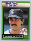 1989  DON MATTINGLY - Kenner Starting Lineup Card - NEW YORK YANKEES