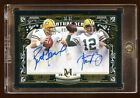 AARON RODGERS BRETT FAVRE GOLD DUAL AUTO #D 15 MUSEUM COLLECTION BEAUTIFUL