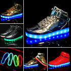 Unisex High Top LED Lighte USB Charger Sports Shoes Lace Up Sneaker Casual Shoes