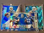 Andrew Luck 2x 12 49 RARE Jersey # 12 2014 Spectra Dynamic Duos Blue + Prizm WOW