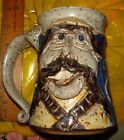 VTG ANTHROPOMORPHIC STUDIO ARTS THROWN POTTERY HIPPY FACE COFFEE MUG BEER STEIN