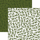 Reminisce ARMY MEN 12x12 Dbl Sided 2 Scrapbooking Papers TOYS
