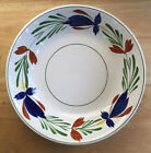 Ideal Ironstone China Hand Painted Serving Bowl Chase Import Red Blue Flowers