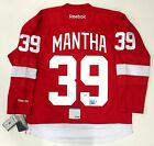 ANTHONY MANTHA SIGNED DETROIT RED WINGS HOME JERSEY PSA DNA COA W88900