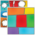 Reminisce COMIC BOOK PANEL 12x12 Dbl Sided 2pc Scrapbooking Paper