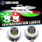 MARINE BOAT GREEN STARBOARD RED PORTSIDE LED NAVIGATION LIGHT FLUSH MOUNT