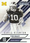 2016 Panini Contenders Draft Picks Class Reunion 25 Tom Brady Michigan