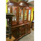 AMERICAN DREW Breakfront CHINA CURIO CABINET Glass Shelves DRAWERS Cupboards