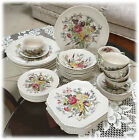 Vintage Johnson Brothers Windsor Ware Service for 8 GARDEN BOUQUET 1940s -1970