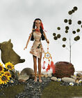 17 Sandra Bilotto NATIVE AMERICAN VALLEY OF FLOWERS ALGOMA VINYL   DOLL  NRFB