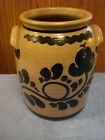 New Geneva Stoneware Crock Black Tan