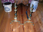 COLONIAL WILLIAMSBURG BALL AND CLAW ANDIRONS HARVIN /VIRGINIA METALCRAFTERS