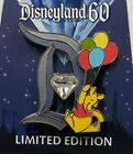 Disneyland 60th DIAMOND D Winnie the Pooh Balloons Disney LE Pin of the Month