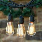 Patio String Lights Outdoor Ambiance Vintage Lighting Black Weatherproof