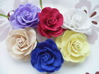 6pcs Big velvet Felt Rose Flower Bow Craft Applique 60mm 6 Color