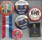 2012 McCAIN  PALIN INDIANA RELATED CAMPAIGN BUTTON GROUP