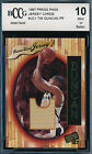 TIM DUNCAN 1997-98 PRESS PASS GAME USED JERSEY ROOKIE BGS BCCG 10 CARD #JC1!