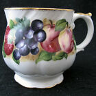 Vintage Queens Rosina Fine Bone China 5057j Cup Strawberry Blueberry Plums