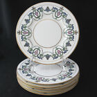 Vintage Minton H2581 Luncheon Plate Pink Flowers Blue Green Leaves Gold Trim 6