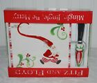 FITZ AND FLOYD MINGLE, JINGLE, BE MERRY SNACK PLATE WITH SPREADER
