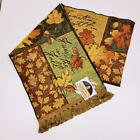 Fall Leaf Collage Autumn Leaves Tapestry Table Runner Artist Susan Winget