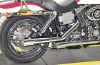 Python by Vance Hines Slash Cut Chrome Exhaust Pipe Slip On Mufflers Harley Dyna