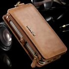 Genuine Leather Flip Wallet Card Slot Case Cover For Samsung Note 5 S6 Edge +