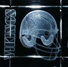 3D Laser Etched Crystal Minnesota Vikings Glass 2 Square Football NFL Gift Box