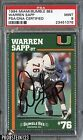 1994 Miami Bumble Bee Warren Sapp HOF RC Rookie Signed AUTO PSA DNA PSA 9