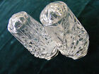 vintage crystal salt  pepper shakers
