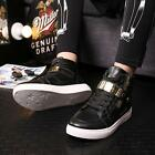 Fashion Mens PU Leather Cingulate Hip hop Shoes Casual Sneakers Ankle Boots LD