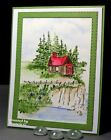 SHANTY HOUSE Wood Uget photo 2 RETIRED L@@K@example ART IMPRESSIONS RUBBER STAMP