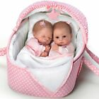 Lifelike Lullaby Twins Baby Girl Doll Set Featuring Heather And Hannah 14TWINS
