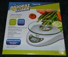 TAYLOR THE BIGGEST LOSER GLASS DIGITAL FOOD SCALE MODEL 3831BL