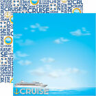 Reminisce CRUISE 12x12 Dbl Sided 2 Scrapbooking Papers TRAVEL vacation