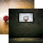 Reminisce HOOPS 12x12 Dbl Sided 2pc Scrapbooking Paper BASKETBALL